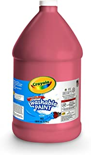 Crayola Washable Red Paint, 1 Gallon Size, Painting Supplies in Bulk
