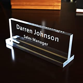 Acrylic Name Plate Office Desk Bar Custom Personalized Engraved