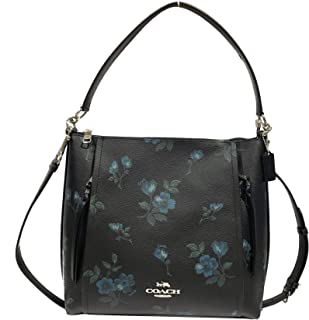 Coach Pebbled Leather Marlon Hobo Shoulder Handbag