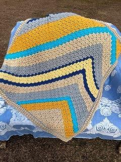 Handmade Multi Afghan Lapghan Baby Blankey