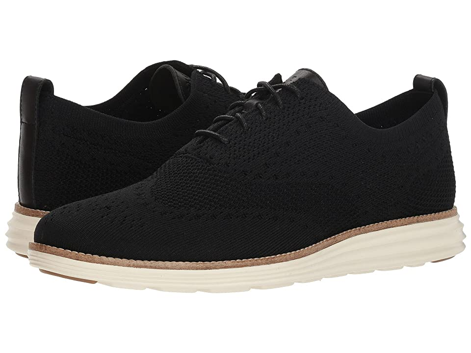 Cole Haan Original Grand Stitchlite Wingtip Oxford (Black/Ivory) Men