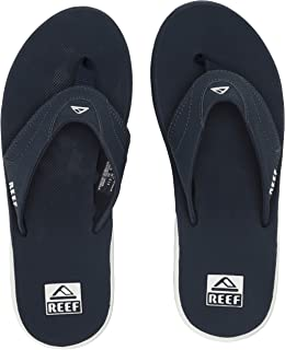 Reef Sandals Fanning |Bottle Opener Flip Flops for Men, Navy/White, 100 M US