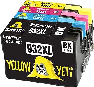 Yellow Yeti Reemplazo para HP 932 933 932XL 933XL Cartuchos de Tinta compatibles con HP Officejet 6600 6700 7110 7610 7612 7620 6100 7510 7600 (1 Negro + 1 Cian + 1 Magenta + 1 Amarillo)