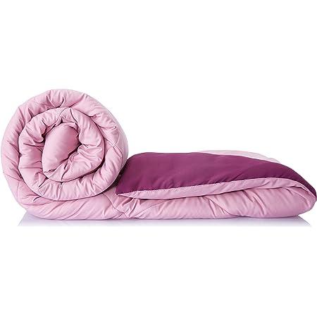Amazon Brand - Solimo Microfibre Reversible Comforter, Single (Mellow Mauve & Royal Violet, 200 GSM)