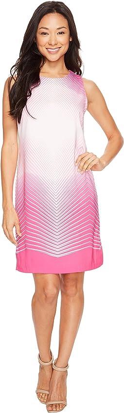 Sleeveless Illusion Panel Shift Dress