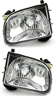 JP Auto Headlight Compatible With Toyota Tacoma 2001 2002 2003 2004 Driver Left And Passenger Right Side Pa...