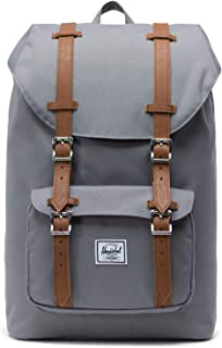 Herschel Supply Company Little America Mid-Volume Casual Daypack, 41-inch, 16.5 Liters, Grey/ Tan PU