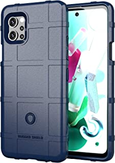 Wuzixi Case for LG Q92 5G.Soft silicone sleeve design, shockproof and durable, Cover Case for LG Q92 5G.(Blue)