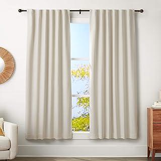 "AmazonBasics 1"" Curtain Rod with Round Finials - 72"" to 144"", Bronze"