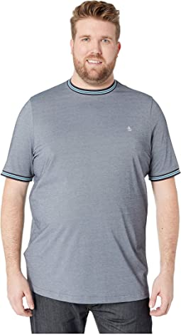Big & Tall Short Sleeve Mercerized Pique Crew Neck Tee