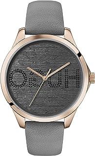 Hugo Boss Women'S Grey Dial Grey Leather Watch - 1540044