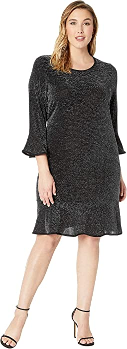 Plus Size Flounce Sleeve Dress