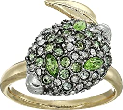Crystal Encrusted Lime Ring