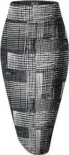 HyBrid & Company H & C Mujer Cintura Elástica Elástico Oficina lápiz Falda con Hermosas Impresiones