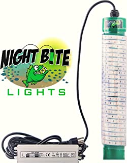 Night Bite LIghts (Green LED Underwater Fishing Light. Great for Your Dock, Pier or Boat can be Used in Freshwater or Saltwater. 110 Volts AC. Over 15000 Lumens with 30' Power Cord.