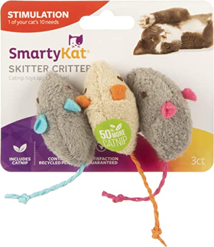 SmartyKat Skitter Critters Cat Toy Catnip Mice, 3/pkg product image