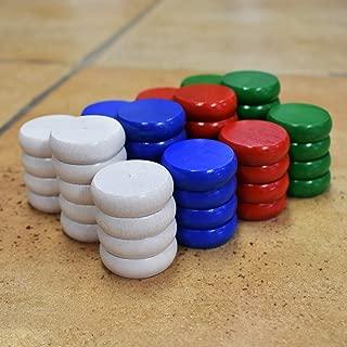 4 Player Tournament Size Crokinole Disc Party Pack (52 Discs)
