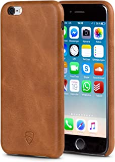 Vaultskin SOHO Leather Wallet Case for iPhone 6 & 6S - Ultra Slim Bumper No Pockets Orange PHSOHIP6C