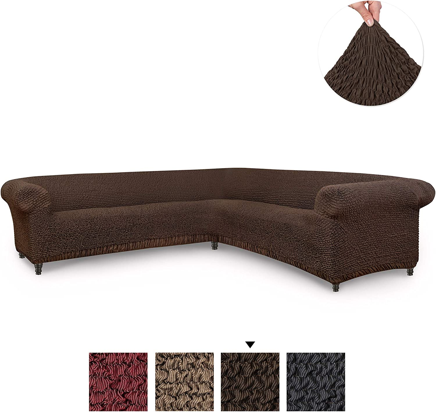 Sectional Sofa Cover - Corner Couch Cover - Corner Slipcover ...