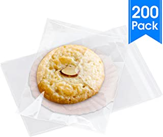 """3"""" X 5"""" (200) Clear Resealable Cellophane Cello Bags Self Seal - Fits 3X5 Prints Photos Cookies Candy Treat Party Favors - Pack It Chic (More Sizes Available)"""
