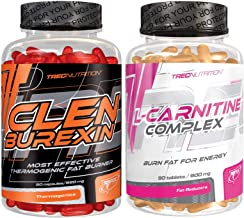 TREC Nutrition Clenburexin L-Carnitine Complex Fat Burners Weight Loss Slimming Pills Fat Tissue Reduction Thermogenic Estimated Price : £ 32,99