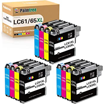 Palmtree Compatible Ink Cartridges Replacement for Brother LC-61 LC-65 for Brother MFC-495CW MFC-490CW MFC-6490CW MFC-6490CW MFC-6890CDW (12 Pack)
