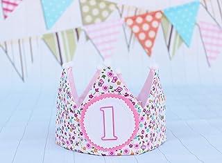 Corona di compleanno ragazza compleanno fiori decorazione corona primo compleanno bambina