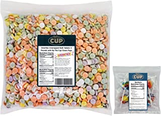 Smarties Unwrapped Bulk Tablets 3 Pounds with By The Cup Clown Pops