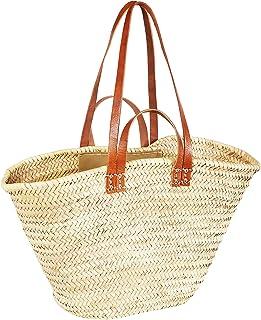 ORIGINAL Ibiza Tasche Korbtasche Strandtasche Palmera 50cm groß   Marokkanische Palmblatt Einkaufskorb Einkaufstasche gefl...