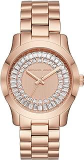 Women's Runway Baguette Rose Gold-Tone Watch MK6533