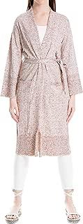 Womens Linen Blend Belted Cardigan Sweater