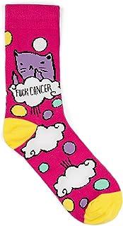 """""""Fck Cancer"""" Socks - Funny Novelty Gift for Cancer Survivor or Chemo Patient"""