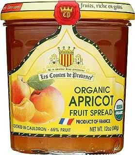 Apricot Spread USDA Organic Preserve – 12 oz/ 340 gr – Made in France Traditional Jam Non GMO Gluten Free