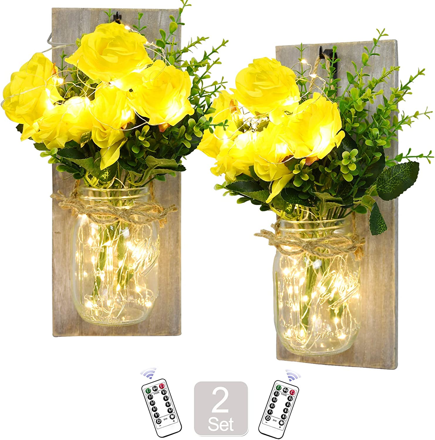 Mason Jar Sconces Wall Decor - Limited price sale Hanging Wa OFFer Wooden Rustic Handmade