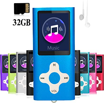 $28 Get Mp3 Player,Music Player with a 32 GB Memory Card Portable Digital Music Player/Video/Voice Record/FM Radio/E-Book Reader/Photo Viewer/1.8 LCD
