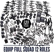 inFUNity Swat Minifigures Armor and Weapons Guns Accessories Pack (290 PCS) Fit 12 Police Minifigures