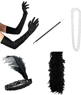 Plumes de Boa Boa Noir 200 cm long 80 g Carnaval Charleston Fête Femmes