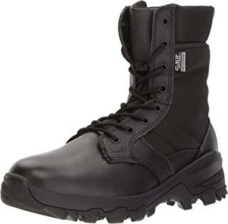 "5.11 Tactical 8"" Black Leather Speed 3.0 Waterproof Combat Military Boots, Style 12371"