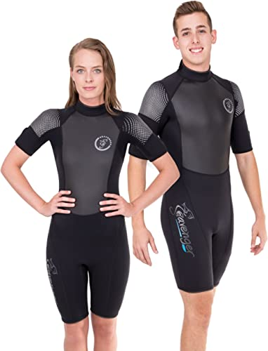 Seavenger Women's Fit 3mm Shorty Wetsuit with Rubberized Stomach