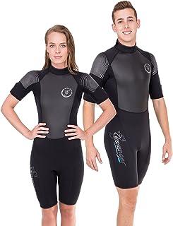 Seavenger Navigator 3mm Shorty | Short Sleeve Wetsuit for Men and Women | Surfing, Snorkeling, Scuba Diving