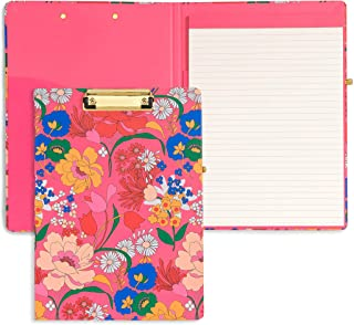 ban.do Get It Together Hardcover Clipboard Folio with Removable Notepad, Padfolio with Pen Loop and Metal Clip, Superbloom...