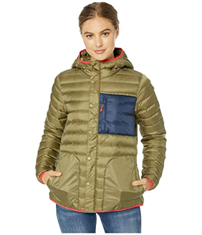 Burton Evergreen Down Collar Insulator (Martini Olive/Dress Blue) Women