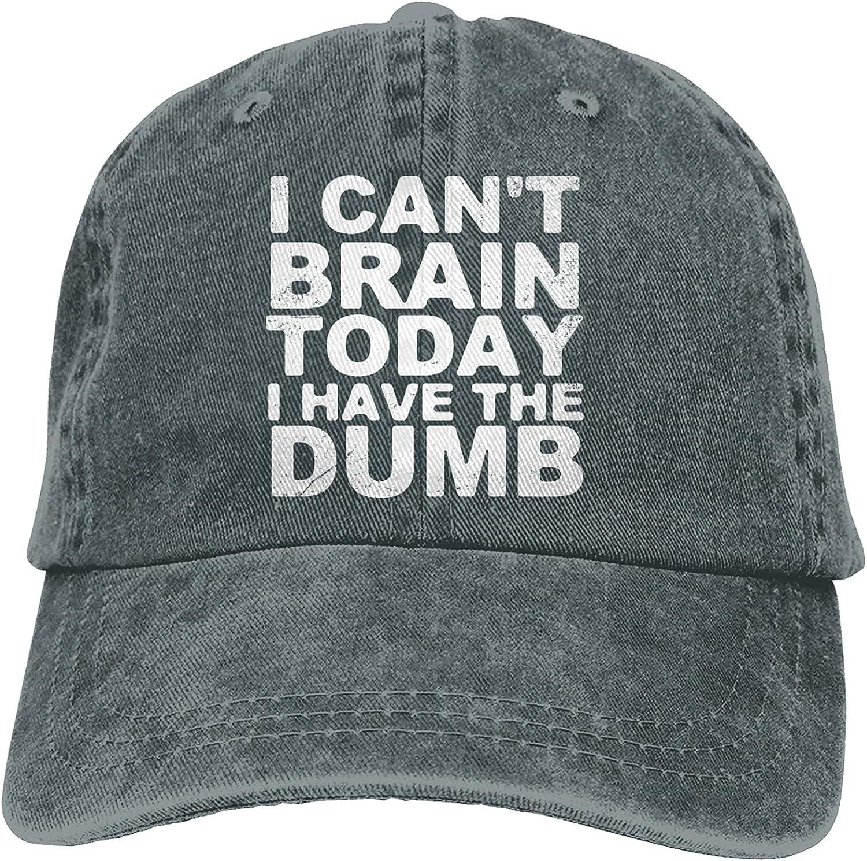 I Can't Brain Today,I Have The Dumb Baseball Cap Trucker Hat Retro Cowboy Dad Hat Classic Adjustable Sports Cap for Men&Women Deep Heather