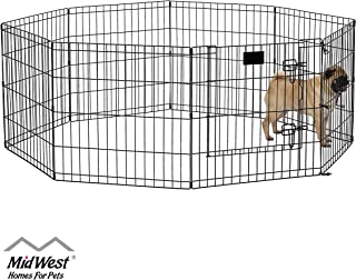 MidWest Homes for Pets Exercise Pen for Pets with Full Max Lock Door