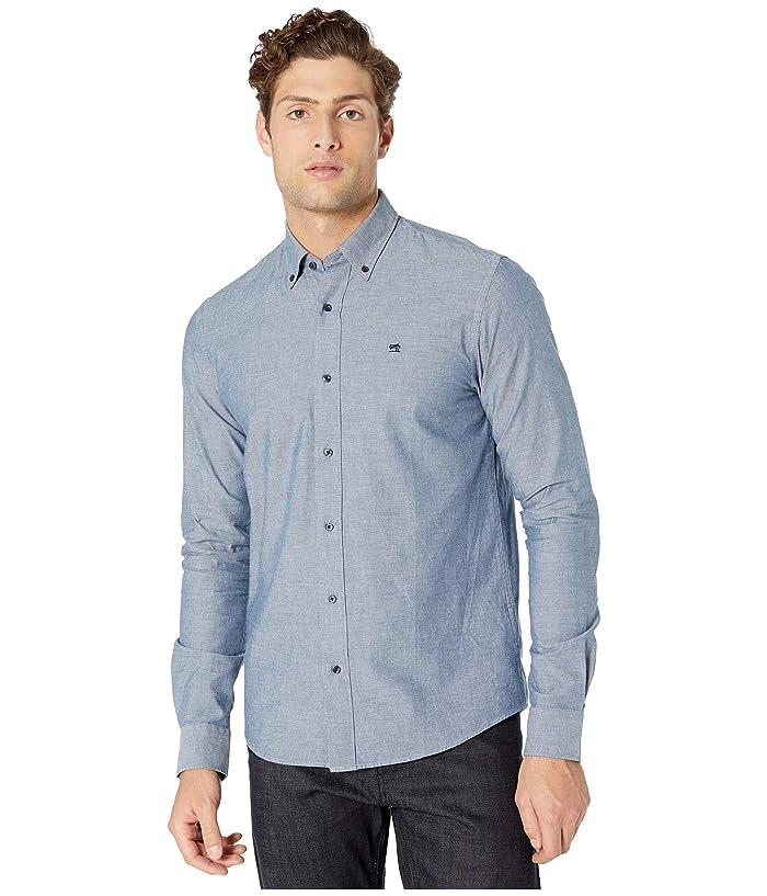 Men's Vintage Workwear – 1920s, 1930s, 1940s, 1950s Scotch  Soda NOS Regular Fit Washed Chambray Shirt Deep Blue Mens Clothing $49.68 AT vintagedancer.com