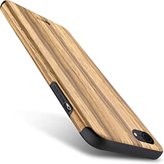 iPhone 6S Case, iPhone 6 Case, B BELK [Air To Beat] [Slim Matte] Non Slip Wood Tactile Extra Grip Rubber Bumper [Extremely Light] Soft Wood Back Cover TPU Case, Teak
