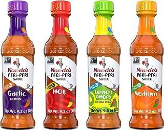 Nando's PERi-PERi Sauce Flavorful Variety Pack - Medium, Hot, Garlic, and Lemon & Herb   Gluten Free - 9.1 ...