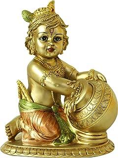 Hindu Lord Baby Krishna Statue - Indian Idol Krishna Figurines for Home Mandir Temple Pooja - India Murti Buddha Sculpture...