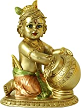 Hindu Lord Baby Krishna Statue - Indian Idol Krishna Figurines for Home Mandir Temple Pooja - India Murti Buddha Sculpture...