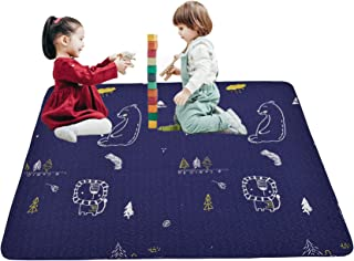 Portable Baby Cotton Play Mat Machine Washing, Foldable Crawling Mat for Floor, 43'' Kids Play Mats Pad Soft Non Slip Non-...